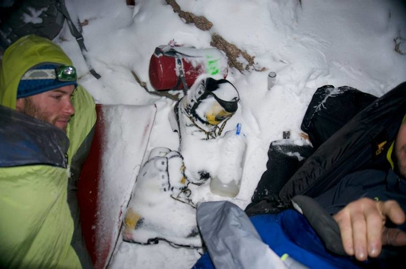Rock Climbing Photo: Nap time in RMNP.  December 2013