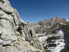 Rock Climbing Photo: Jeff on 3rd Class section of NW Ridge.