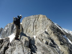 Rock Climbing Photo: Jeff on NW Ridge of North Peak, with 4th Class sec...