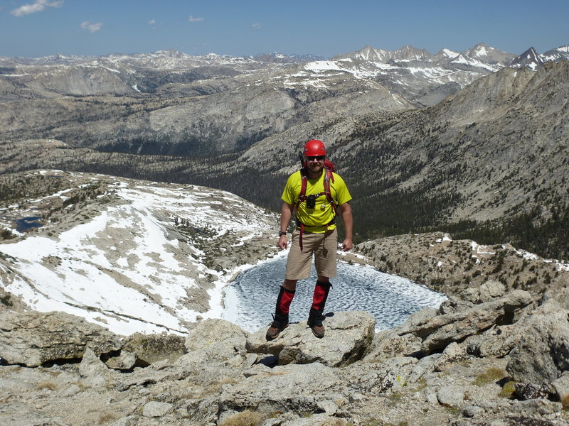 Rock Climbing Photo: Barry on NW Ridge, looking northwest with Upper Mc...