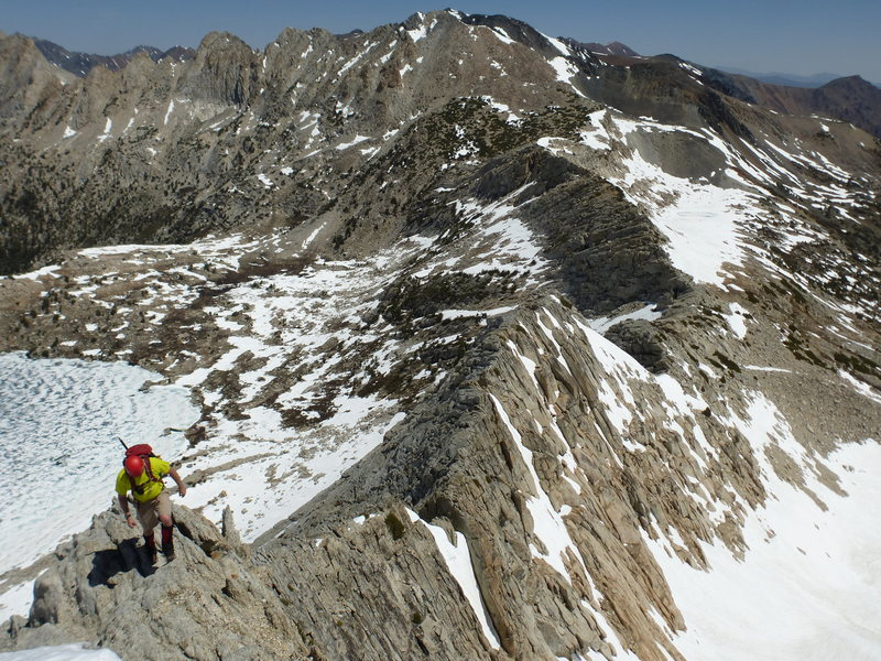 Rock Climbing Photo: Barry on NW Ridge, looking north with Upper McCabe...