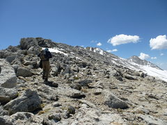 Rock Climbing Photo: Above the climbing sections of the NW Ridge, now o...