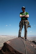 Rock Climbing Photo: On the very unique summit of Dodgeball- a 90 degre...