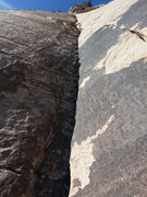 Rock Climbing Photo: The layback section of pitch two...how schweet it ...