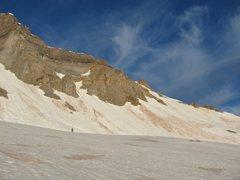 Rock Climbing Photo: Base of the North Couloir on Yankee Boy Basin.