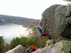 Rock Climbing Photo: Beautiful line at Devil's Lake