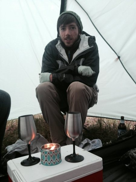 Rock Climbing Photo: Camping in cold rain... for my birthday
