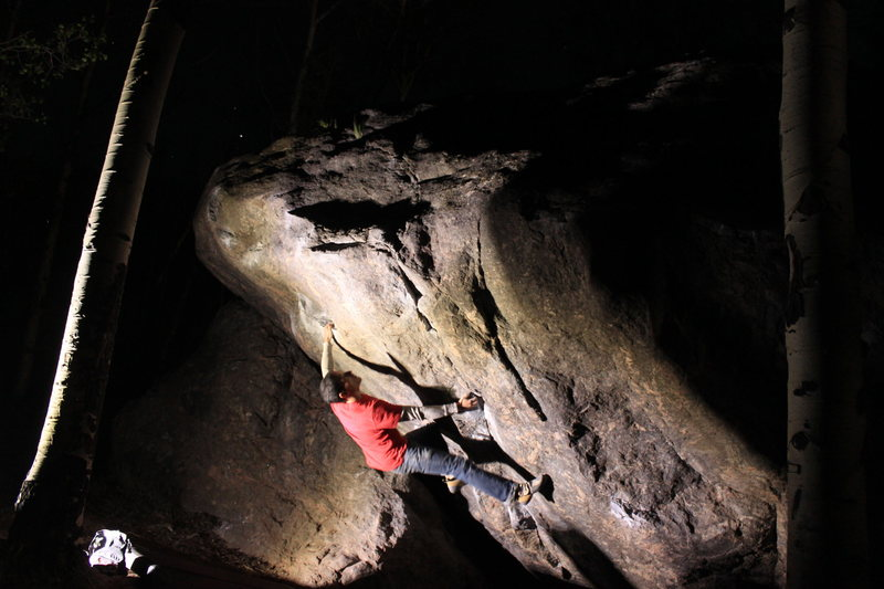 Rock Climbing Photo: Nice night send of The Minturn Mile.