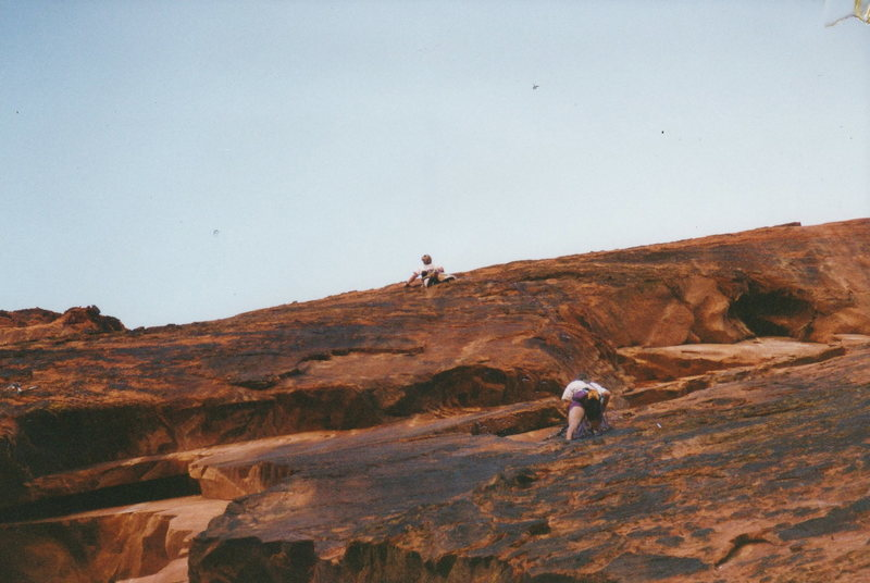 Rock Climbing Photo: Just moved through the crux.