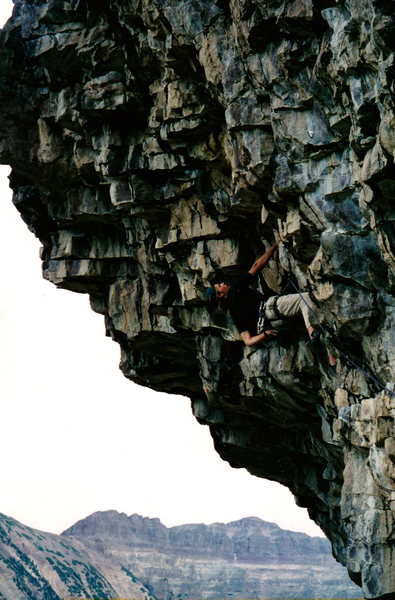 Rock Climbing Photo: Big holds in steep terrain. Best route at Stone Ga...