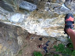 Rock Climbing Photo: Look down from the top. Lots of flat juggers