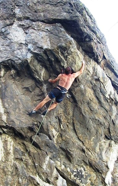 One of many slap moves on the ever-steeping prow.