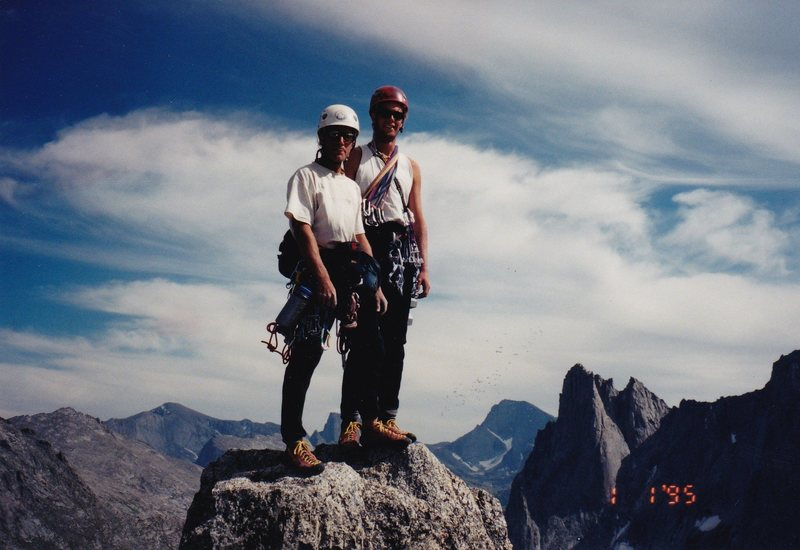 Rock Climbing Photo: Chuck and I on top of Pingora.