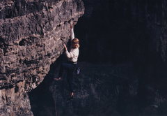 Rock Climbing Photo: The holds are big but it's steep.
