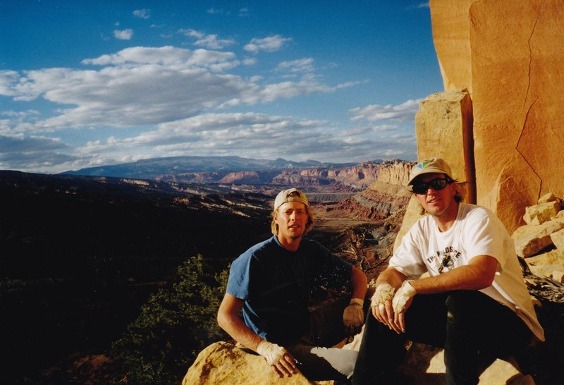 Ron and I at the base of the wall. Miss you Ron.