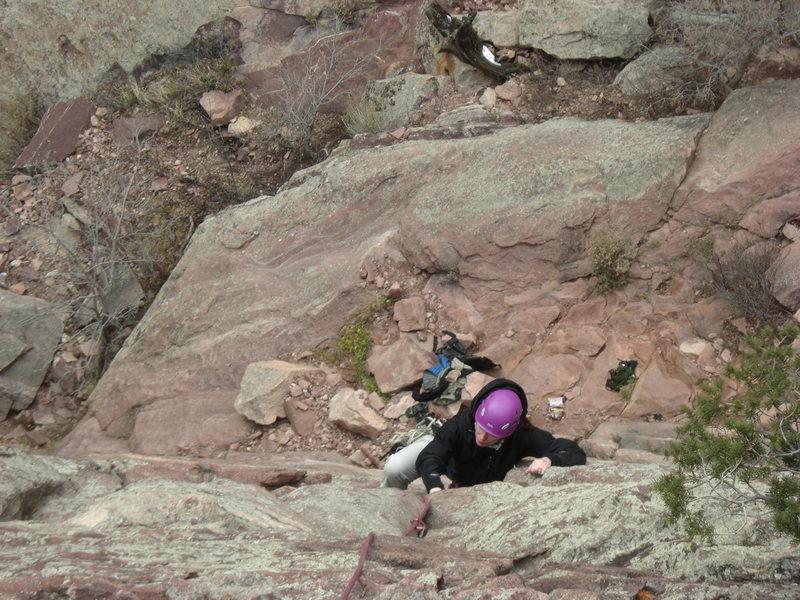 Climbing in Eldo Canyon