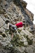 Rock Climbing Photo: Working the crux.
