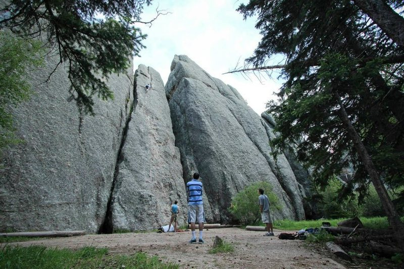 Rock Climbing Photo: Mike Madsen climbs Better Than Pool and Pie. Jason...