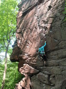 Rock Climbing Photo: Tracie's first smooth red Lockatong Formation argi...