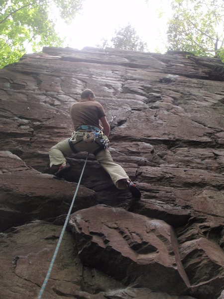 Rock Climbing Photo: On lead...
