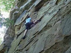 Rock Climbing Photo: First time leading -- on Prehistoric Extermination...