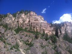 Rock Climbing Photo: East Side of No Name, the Quartzite Palace.