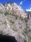 Rock Climbing Photo: East Side of No Name. Trojan Horse beta.
