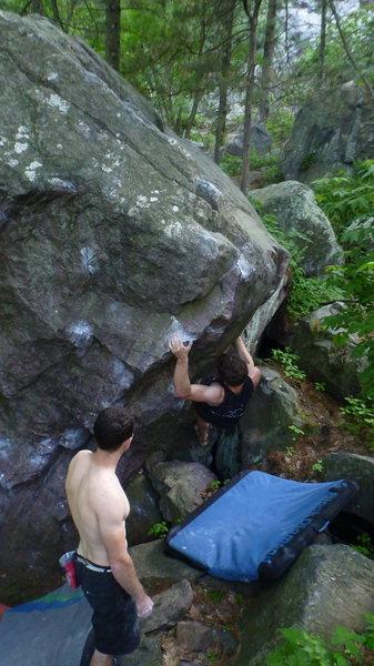 Rock Climbing Photo: Near the finish