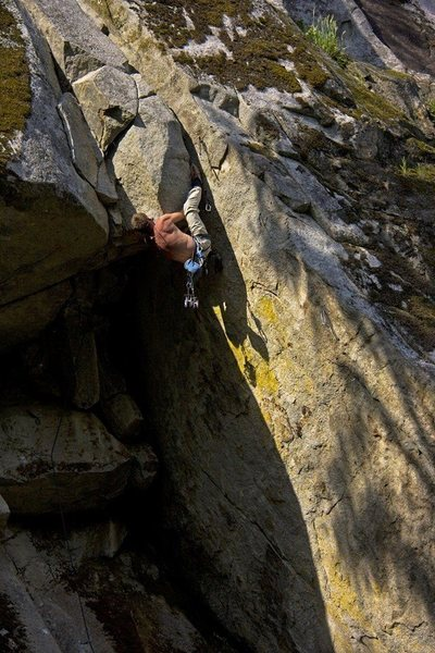 "Rock Climbing Photo: Working ""Twilight Sparkle"" a few weeks a..."