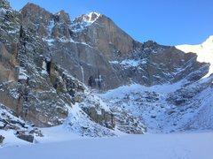 Rock Climbing Photo: Long's Peak on Dec. 29, 2013. If you follow the fo...