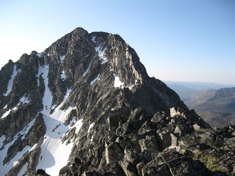 Remmels' summit and NW Ridge from North Summit