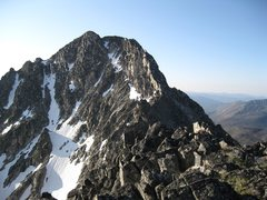 Rock Climbing Photo: Remmels' summit and NW Ridge from North Summit