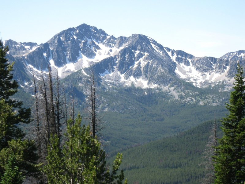 Rock Climbing Photo: Mt. Remmel in early August from near Apex Pass to ...