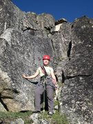 Rock Climbing Photo: Climber about to begin the 1st pitch of the NE Rid...
