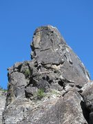 Rock Climbing Photo: Along the final traverse, the tricky move