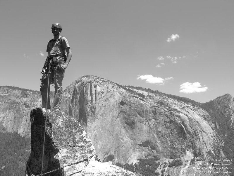 Gokul on the summit