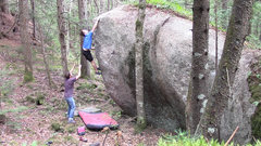 Rock Climbing Photo: Ladd sticking the lip on Ready Fire Aim