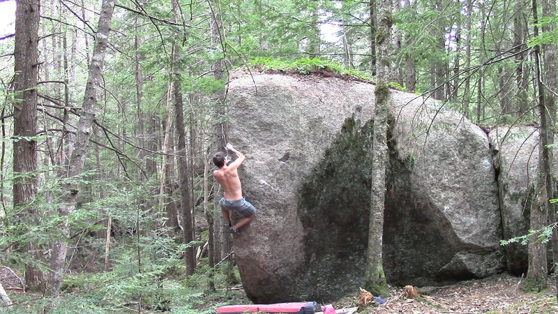 Rock Climbing Photo: Matching the hold on Ready Fire Aim