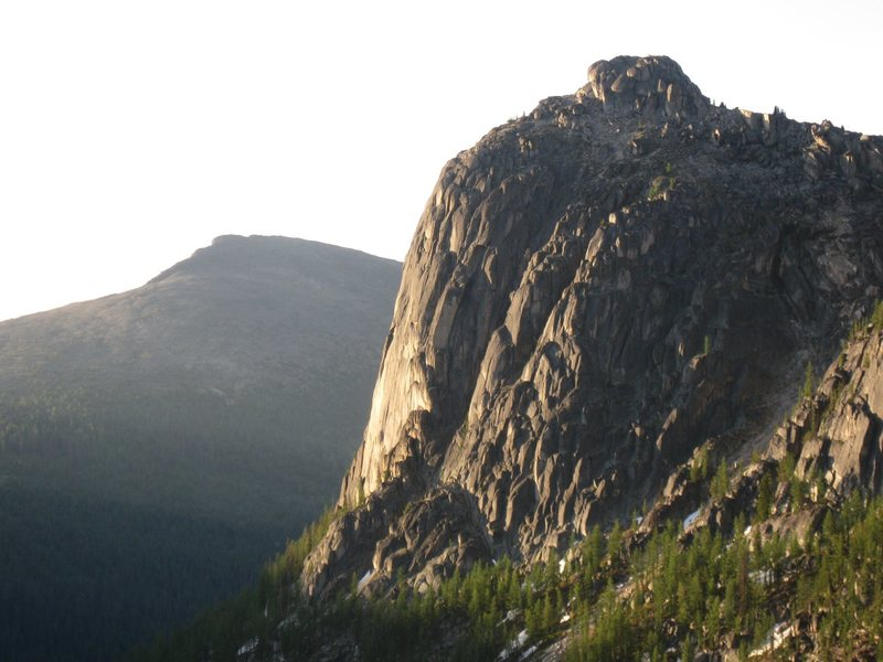 NE Face of Amphitheatre Mtn from Cathedral Pass.