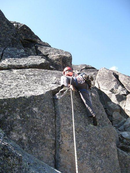 Climber on the North Ridge