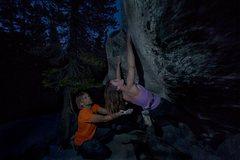 Rock Climbing Photo: Fun boulder under Puppy Dome in Tuolumne Meadows