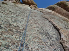 Rock Climbing Photo: The crack with the notch you climb into at the top...