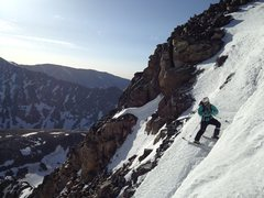 Entering the NE Couloir.