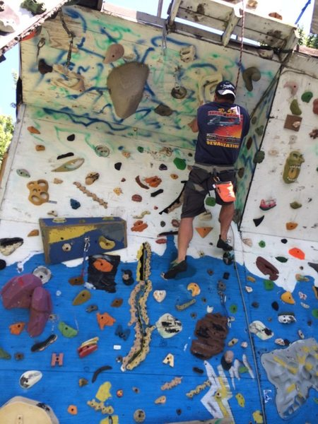 Rock Climbing Photo: new improved wall for 2014