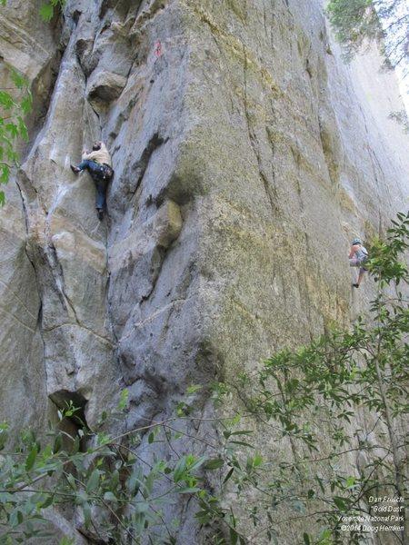 Rock Climbing Photo: Dan on Gold Dust