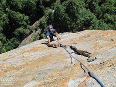 Rock Climbing Photo: Gokul, crux pitch