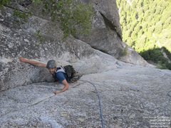 Rock Climbing Photo: Gokul, tired but in the home stretch