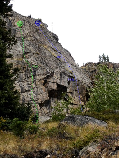 Rock Climbing Photo: Key To The Highway (blue line) is the furthest rig...
