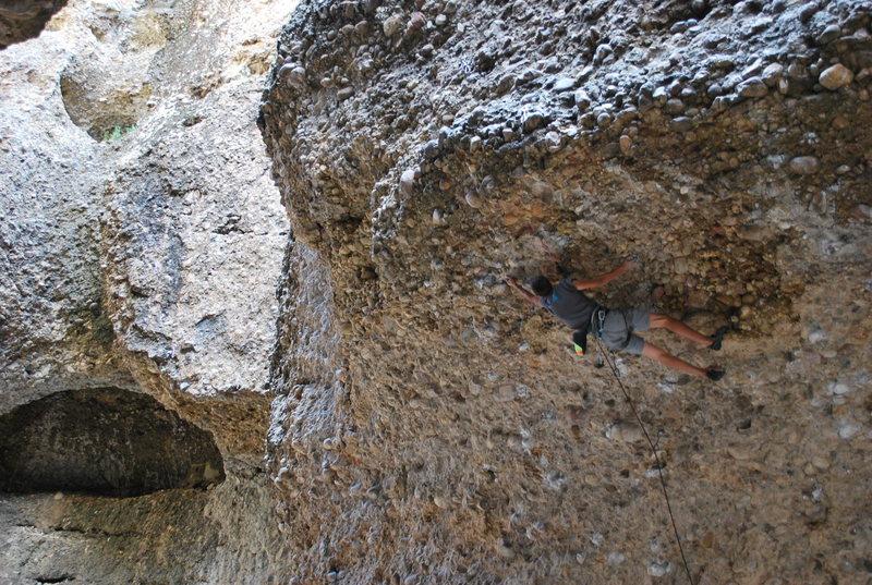 Rock Climbing Photo: Alex Toth climbs Point Blank.