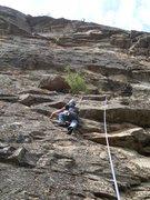 "Rock Climbing Photo: Justin on ""Plastic People"" (5.7 ***)"